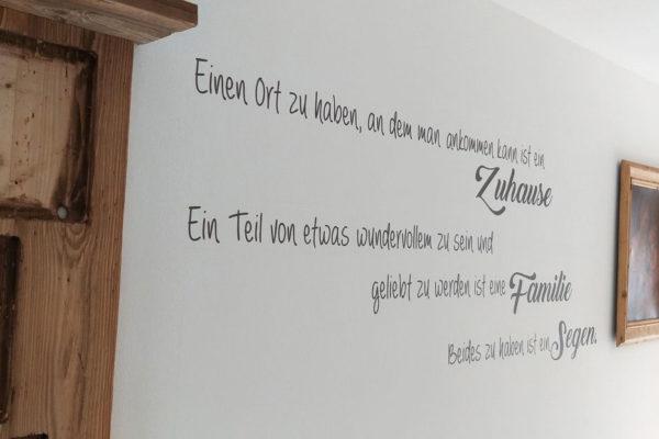 Malerbetrieb Reiterer Hafling - Beispielbild Schrift